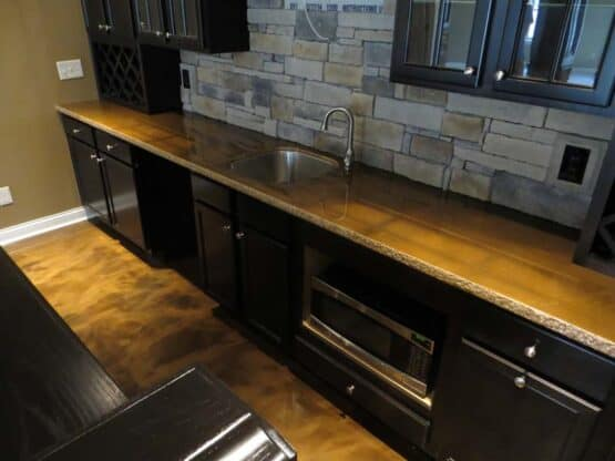 Metallic Epoxy Floor and Countertop