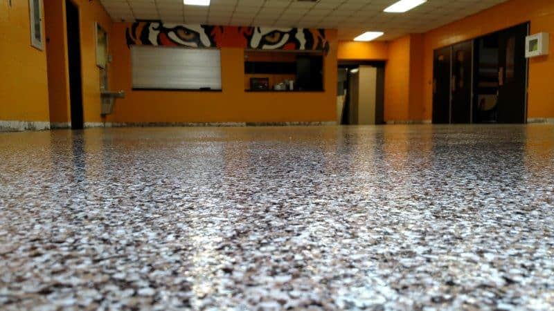 Epoxy Flake Gym Lobby Floor in Northern Kentucky