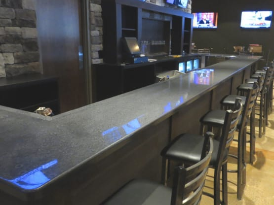 Metallic Epoxy Bar Top