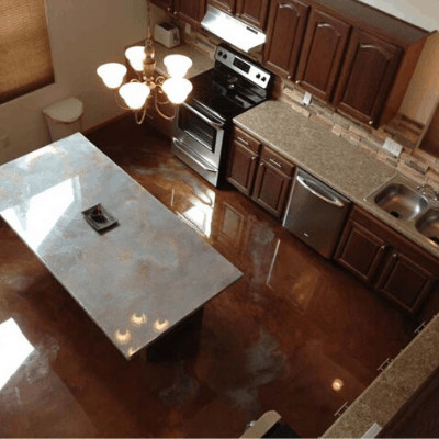 Metallic Kitchen Floor