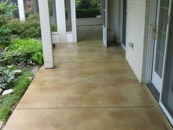 Stained Carved Patio