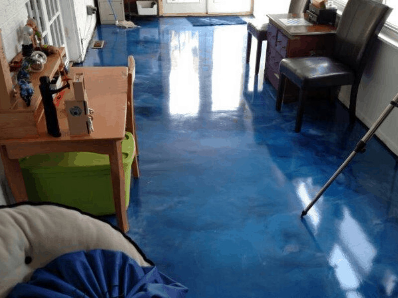 Blue Metallic Epoxy Floor