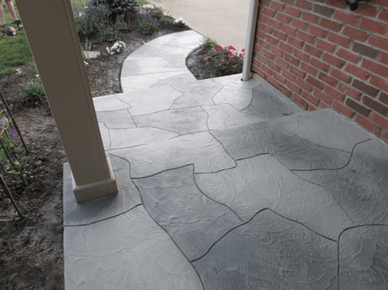 Porch Overlayment - Flagstone Pattern