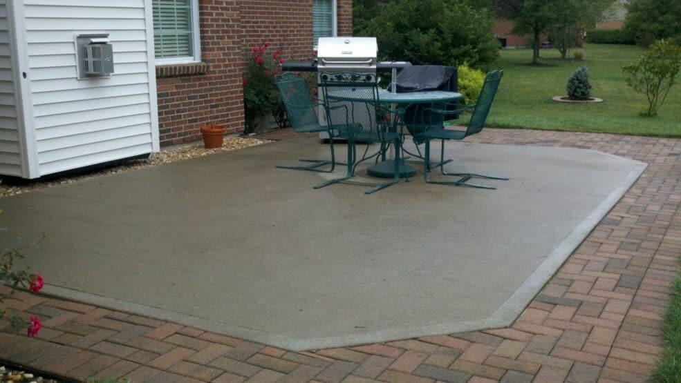 Concrete Patio Before