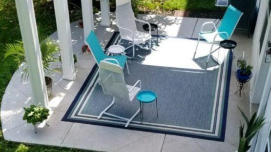 Finished Concrete Patio with Furniture