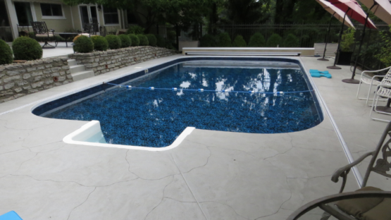 Resurfaced Stained Pool Deck
