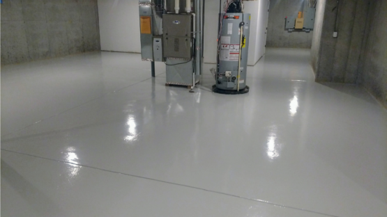 Solid Light Grey Epoxy Floor