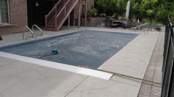 Resurfaced Pool Deck
