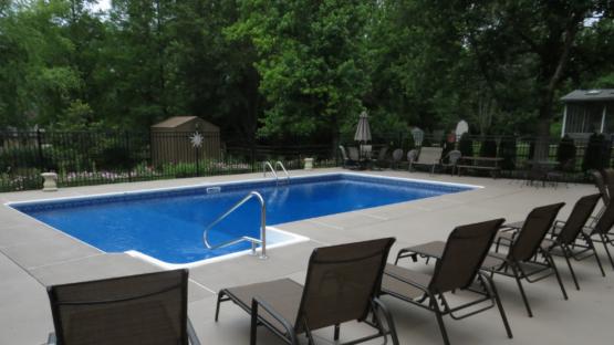 Resurfaced Pool Area