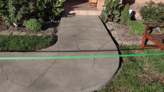 Decorative Stone Resurfaced Walkway