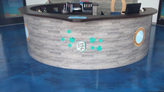 Childcare Blue Metallic Epoxy Floor