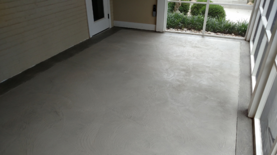 Porch Overlay Stained Grey with Accent Border