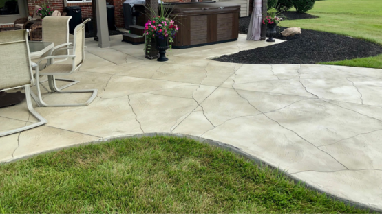Cromwell Grey Stained Patio