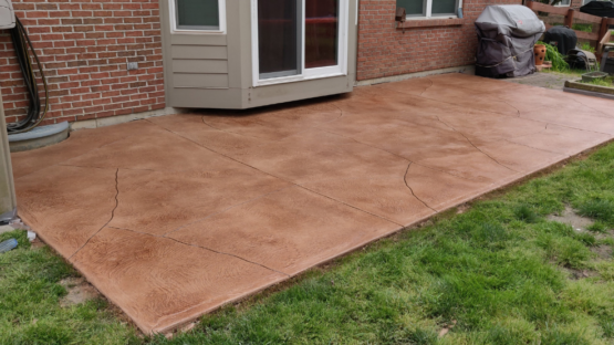 Chocolate Burnt Sienna Stained Patio