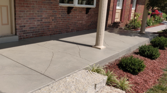 Carved Stone Resurfaced Patio
