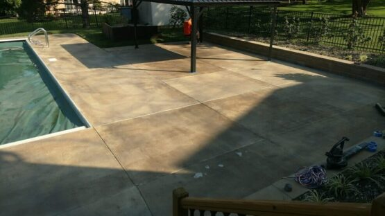 Concrete Pool Deck Before