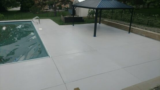 Concrete Pool Deck After