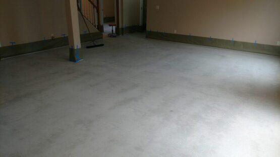 Basement Floor Before