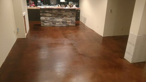 Stained Concrete Floor After