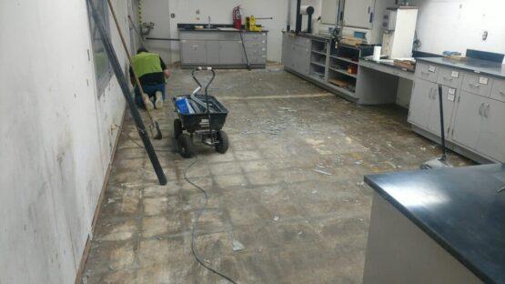 Epoxy Flake Floor Prep