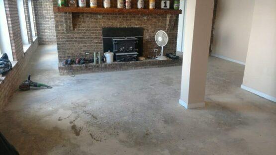 Basement Epoxy Floor Before