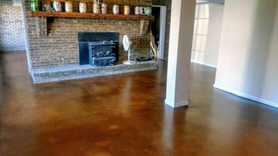 Concrete Basement Floor After
