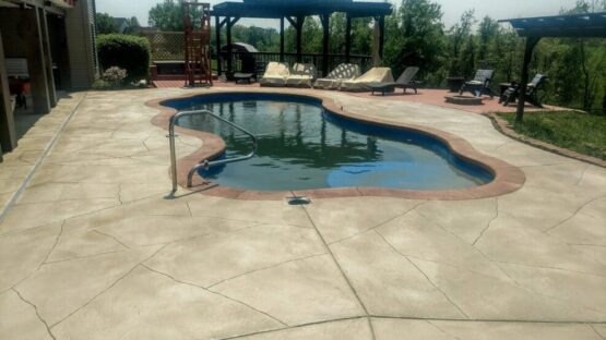 Concrete Pool Area Overlayment After