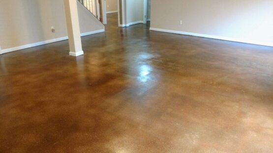 Basement Epoxy Floor After