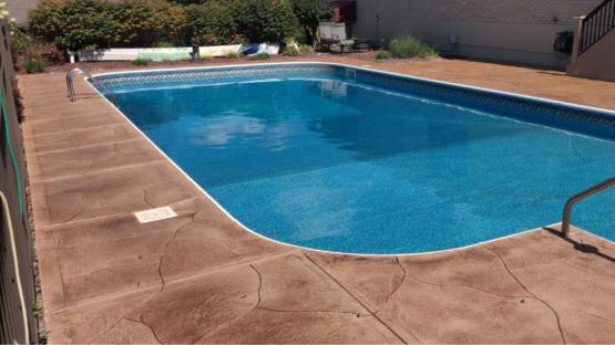 Stained Resurfaced Pool Deck
