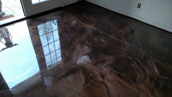 Coffee Metallic Epoxy Floor
