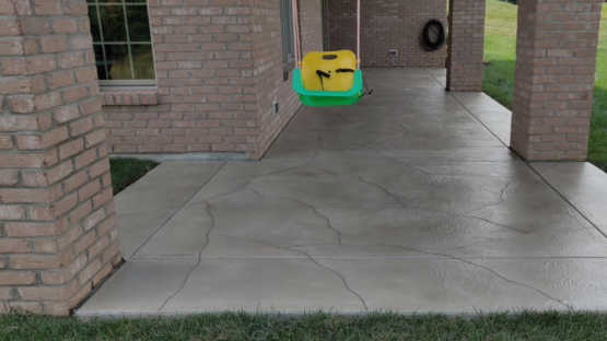 Resurfaced Stained Patio