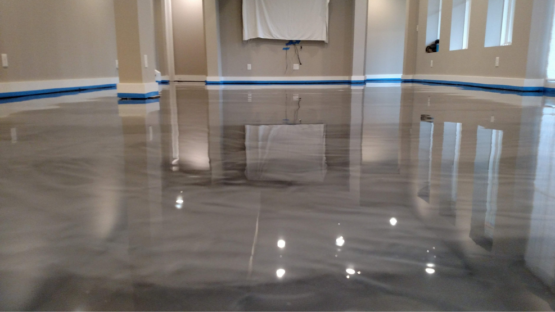Titanium Epoxy Stained Floor