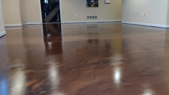 Epoxy Stained Floor