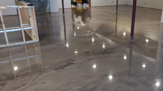 Champagne Epoxy Basement Floor