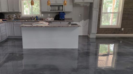 Marble Epoxy Pole Barn Kitchen