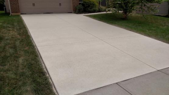 Spray Down Texture Driveway