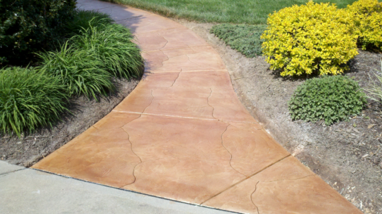 Stained Carved Walkway
