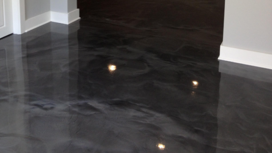 Gunmetal Epoxy Basement Floor