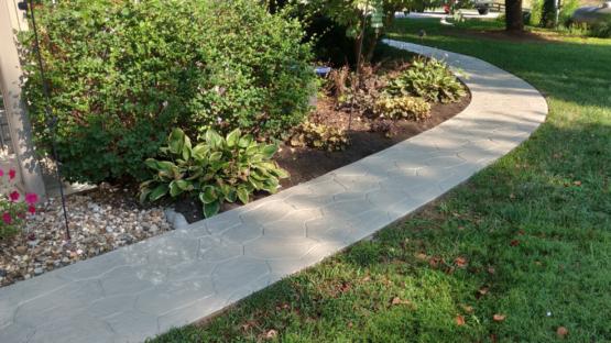 Solid Color Sealed Stamped Walkway
