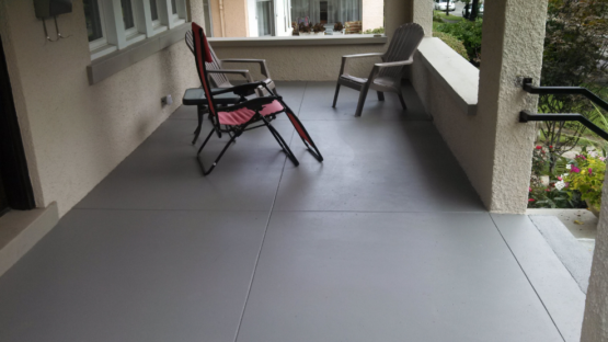 Solid Color Stained Patio