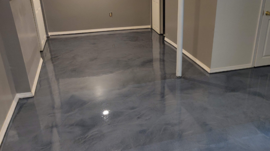 Titanium Epoxy Basement Floor